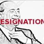 berlusconi resignation