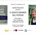 IL GIOCO GRANDE SIENA. 14.11.2013
