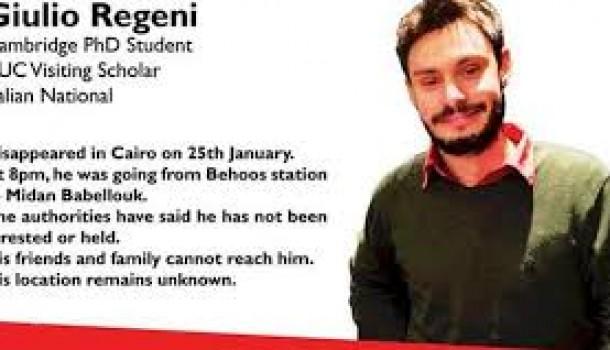 Indignazione per l'assassinio di Giulio Regeni – Lettera all'Ambasciatore egiziano