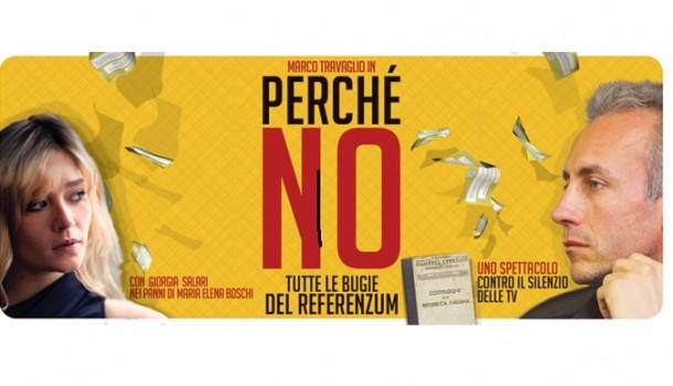 """""""Perché No. Tutte le bugie del Referenzum"""" con Marco Travaglio e Giorgia Salari: le date del tour"""