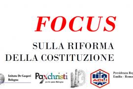 Bologna – Focus sulla riforma della costituzione ( e video incontro 21/09)