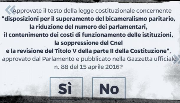 Bozzi e Palumbo: nessuna retromarcia, richiesta di referendum e scheda referendaria sono cose diverse