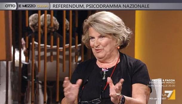 Sandra Bonsanti a Otto e Mezzo – LA 7 – 26 Novembre 2016