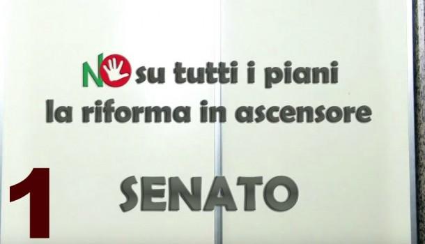 Senato NO su tutti i piani: la riforma in ascensore – Episodio 1