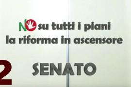 Senato NO su tutti i piani: la riforma in ascensore – Episodio 2