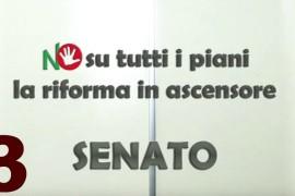 Senato NO su tutti i piani: la riforma in ascensore – Episodio 3