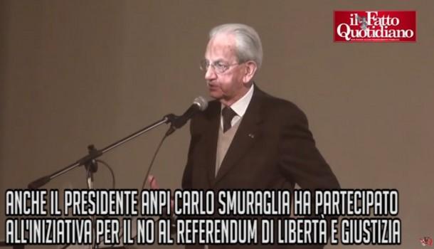 """Riforme, Smuraglia (Anpi) per il No: """"Ho profuso lo stesso impegno di 70 anni fa per la Liberazione"""""""