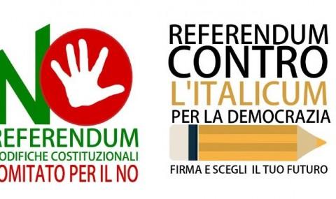 """""""Restiamo in campo"""", Comitati per il No nel referendum costituzionale e contro Italicum"""