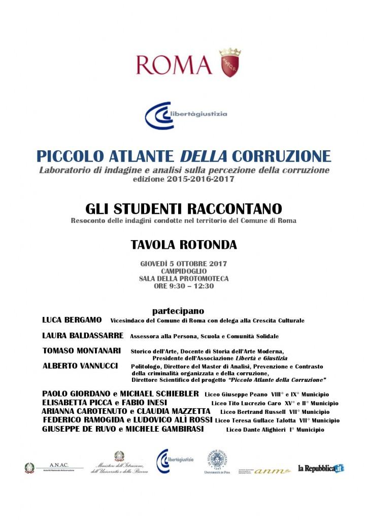 LOCANDINA INCONTRO STUDENTI CAMPIDOGLIO - SALA DELLA PROTOMOTECA - 5 OTTOBRE 2017 [4827]-page-001