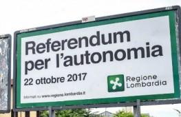 Il referendum sull'autonomia lombarda