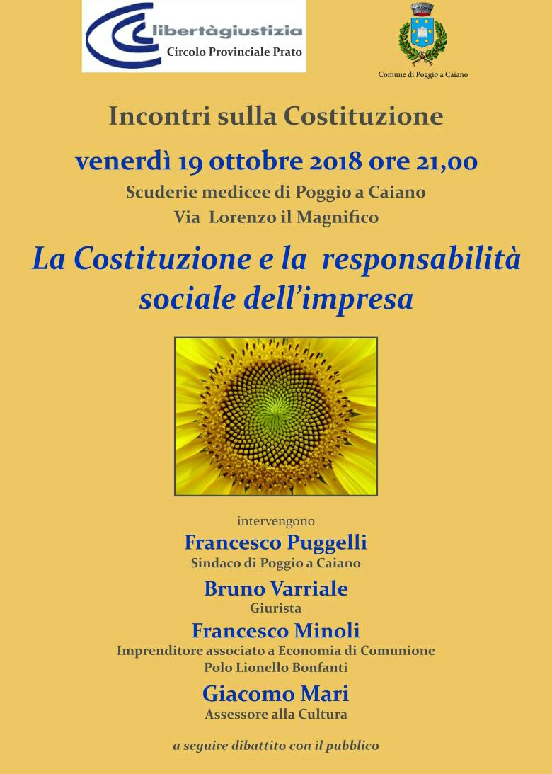 Responsabilità sociale impresa 19 ottobre