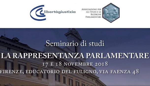 """17/18 Novembre """"La rappresentanza parlamentare"""""""