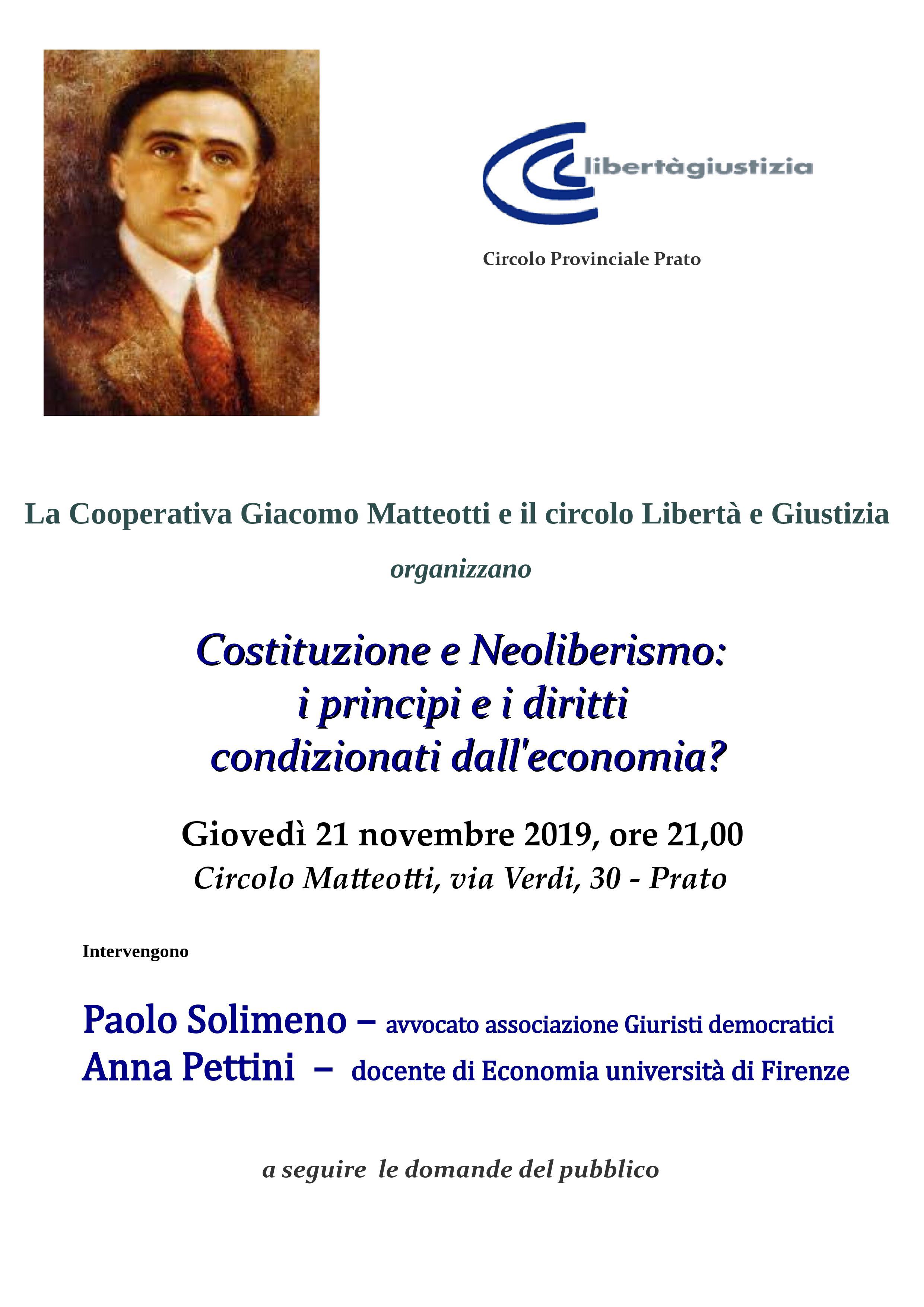 Costituzione e Neoliberismo