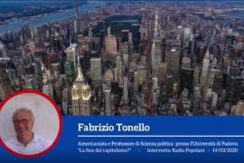 """Fabrizio Tonello a Radio Popolare – """"La fine del Capitalismo?"""""""
