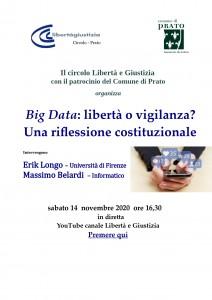 Costituzione e Big Data 14 novembre 2020