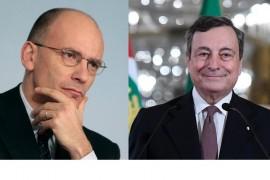 Letta alla destra di Einaudi, Draghi alla destra di Letta
